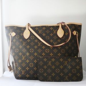 Neverfull medium size , with pouch